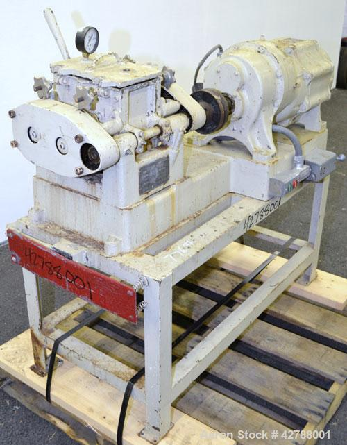 Used- Baker Perkins Lab Size Double Arm Mixer, Approximate (0.75) Gallon Working Capacity, 316 Stainless Steel. Carbon steel...