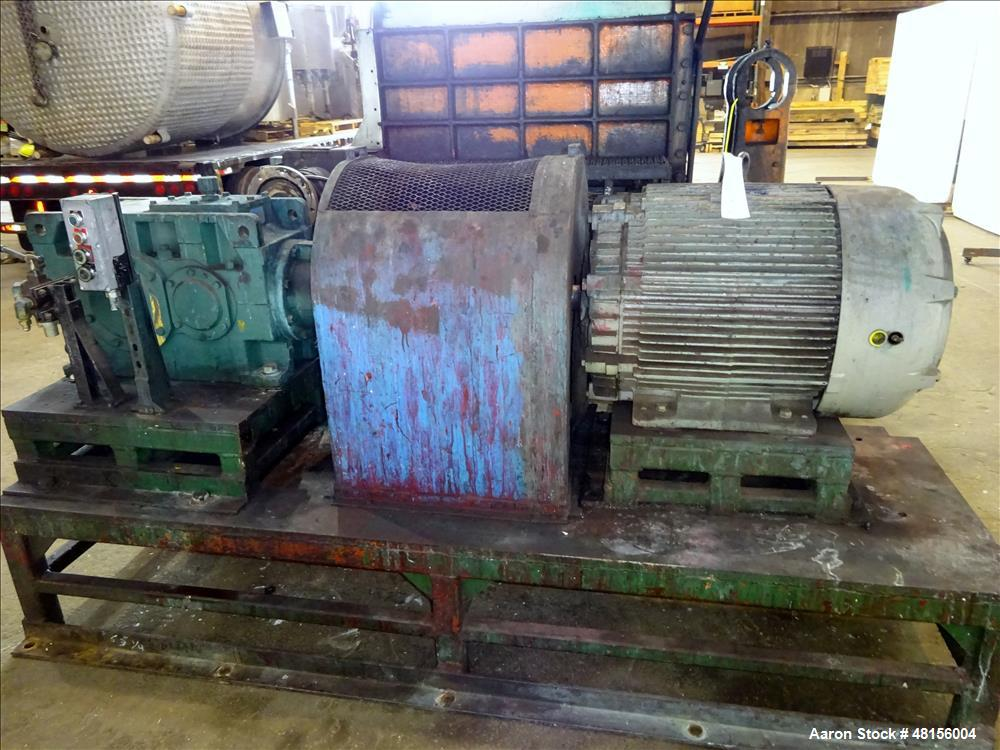 Used- Baker Perkins Double Arm Mixer, Approximate 300 Gallon, Carbon Steel.