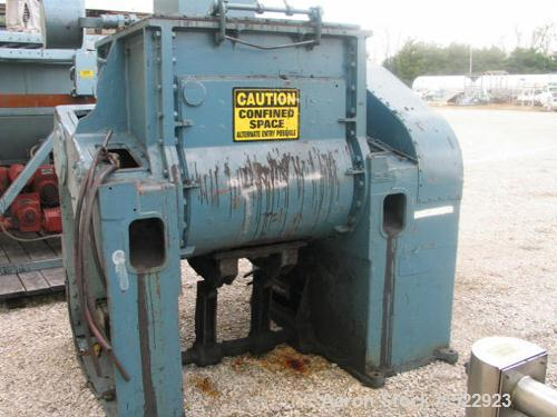 USED: Baker Perkins Sigma 16 DIM Unidor horizontal batch mixer. Drivemotor is Reliance 25 hp, 880 rpm, 230/460, 3 phase, 60 ...