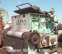 USED: Baker Perkins 300 gallon double arm mixer. Carbon steel, duplex blades with serrated edges, geared at one end, jackete...