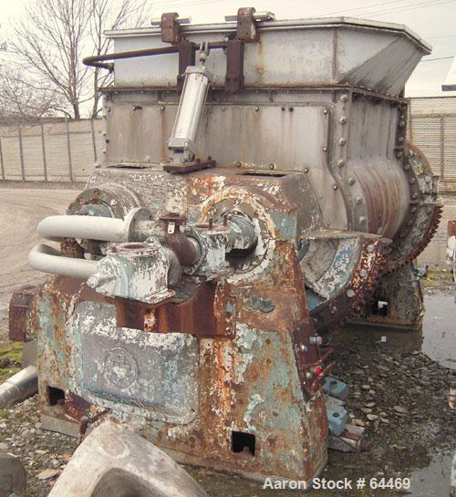 Used- Stainless Steel Baker Perkins Double Arm Mixer, approximate 450 gallon working capacity