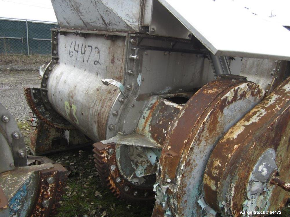 Used- Baker Perkins Double Arm Mixer, 400 Gallon Working Capacity.