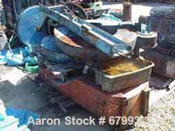 """USED: Baker Perkins 300 gallon double arm mixer, carbon steel. Jacketed bowl 42-1/4"""" left to right x 50"""" front to back x app..."""