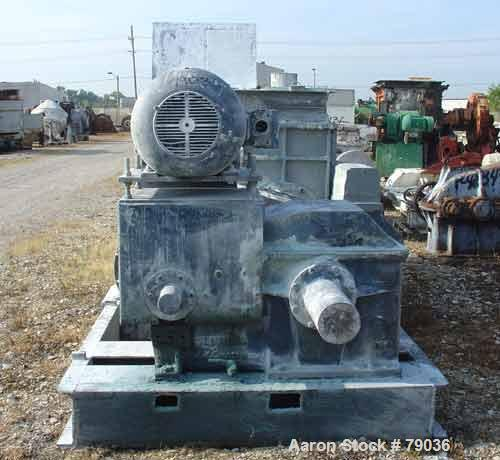 """USED: Baker Perkins (Guittard) double arm mixer, carbon steel. 400 gallon working capacity, 528 total. Jacketed bowl 63"""" lef..."""