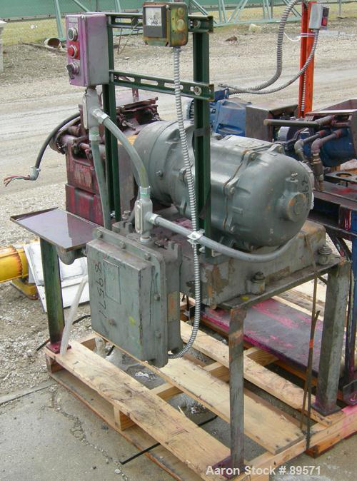 Used- Baker Perkins lab double arm mixer, approximate .75 gallon working capacity, 316 stainless steel