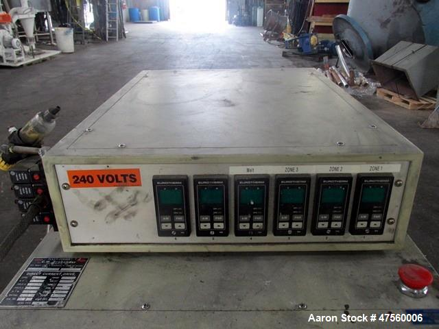 Used- Brabender Laboratory Mixer System. Drive system Type DR-2072, 7.5hp DC motor with controller, Haake mixing head, (6) e...
