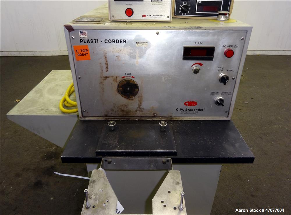 Used- C.W. Brabender Plasti-Corder Mixing System