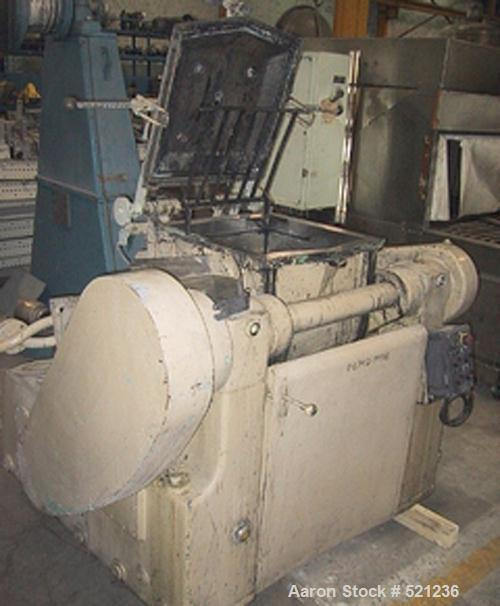 USED: Fritz Meili double arm mixer. Material of construction is stainless steel on product contact parts. Total capacity is ...