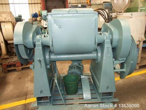 Used-Guittard M54 double arm sigma blade mixer, working capacity 100 liters (26.5 gallons), 5.6 kW (7.5 hp) motor and double...