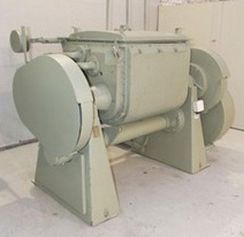 Used-Guittard M56 Double Arm Z-Blade Mixer, carbon steel, 92 gallon total capacity, 66 gallon working capacity, double jacke...