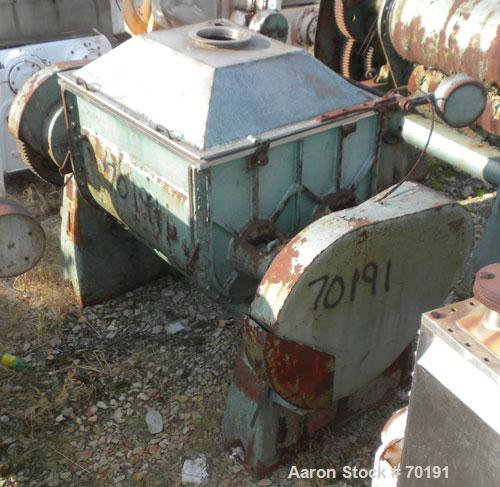 Used- Guittard Double Arm Mixer, Model M58, 200 Gallon Working Capacity, 1000 Liter (264 Gallon) Total