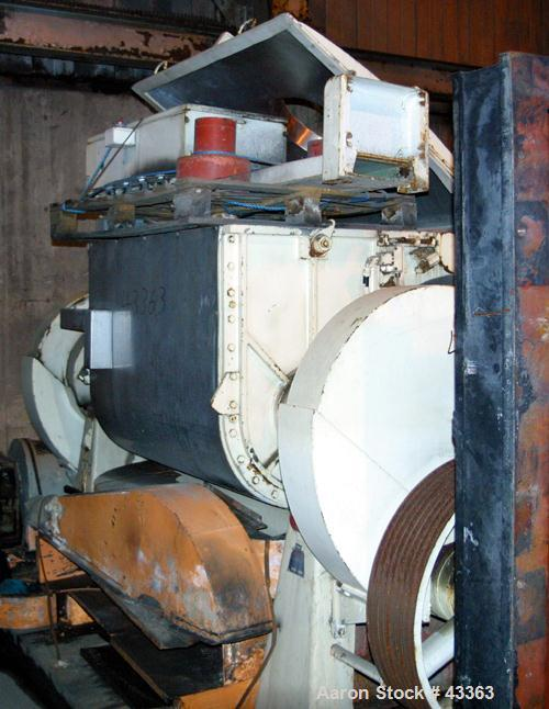 Used- Stainless Steel Guittard Double Arm Mixer, Model M58S, 200 gallon working capacity (264 total)