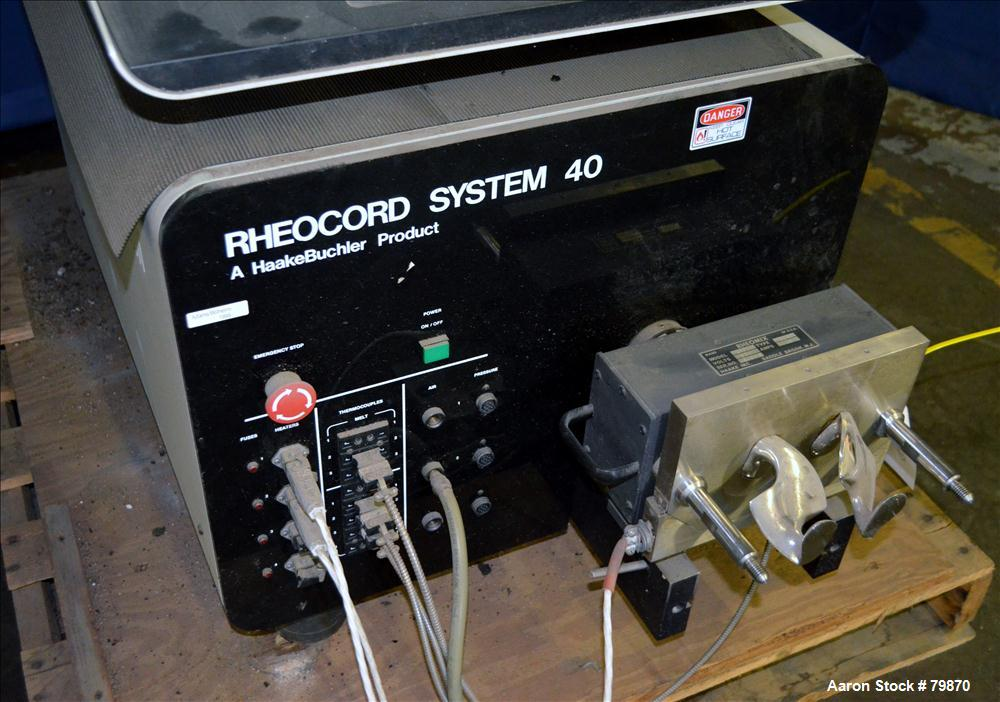 Used- Haake Buchler Rheocord 40 Double Arm Mixing System