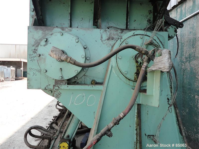 Used- Carbon Steel Inoue Double Arm Mixer, 792 Gallon Working Capacity (1000 Tot
