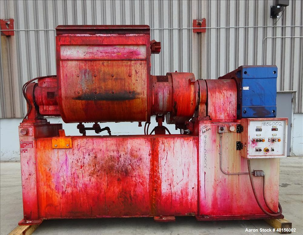 Used- Battaggion Double Arm Mixer, Approximate 200 Gallon, TYPE IPI 1000 AP/T