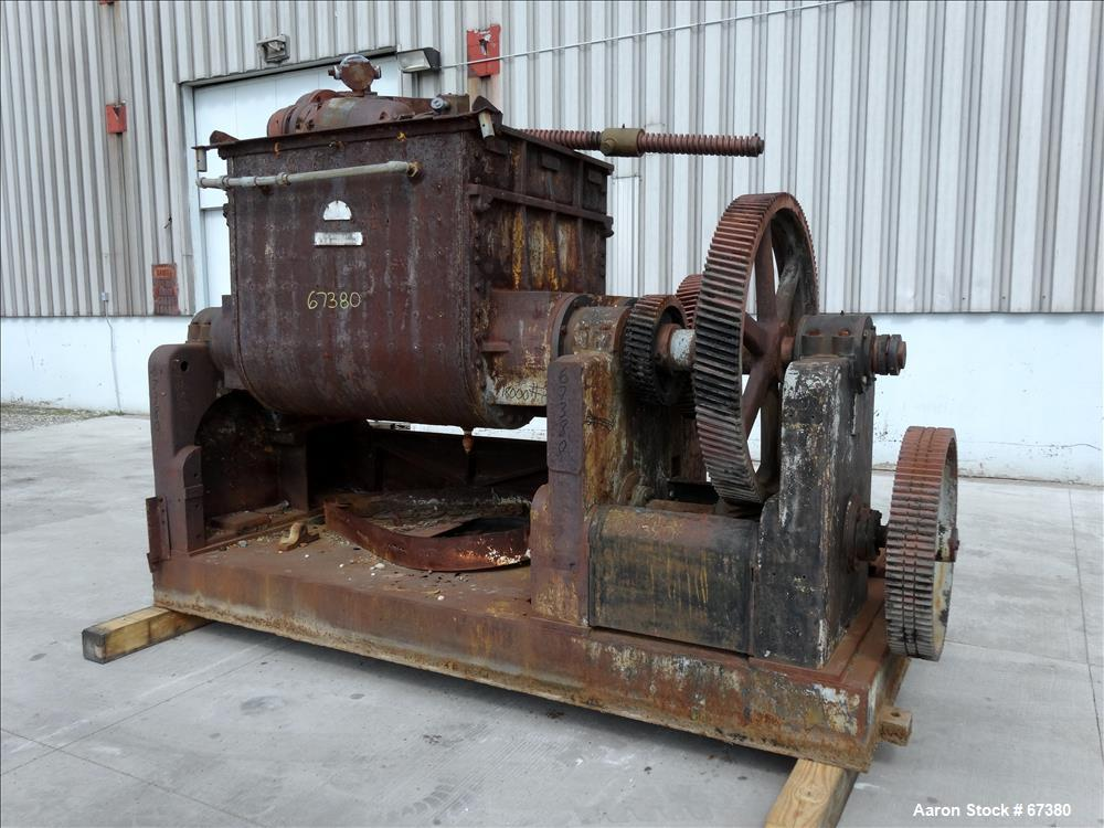 Used: J H Day double arm mixer, carbon steel, model 150 Mogul. 150 gallon workin