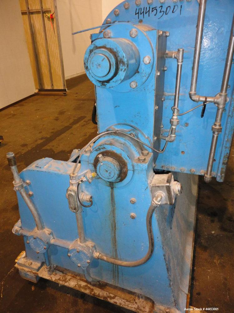 Used- J.H Day Imperial Double Arm Mixer, Model 30, 304 Stainless Steel. 50 Gallon working capacity. Carbon steel jacketed bo...