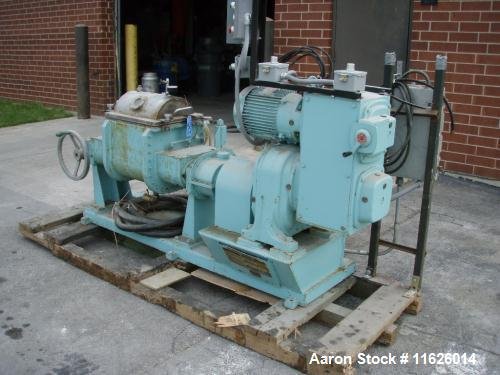 Used-  JH Day Double Arm Mixer, approximately 5 gallon, stainless steel tilt discharge