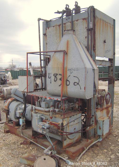 Used- Carbon Steel J.H. Day Double Arm Mixer, Approximate 35 gallon working capa