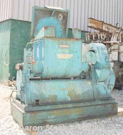 """Used- J.H. Day Double Arm Mixer, 50 gallon Working Capacity, Carbon Steel. Jacketed bowl 36"""" left to right x 28"""" front to ba..."""