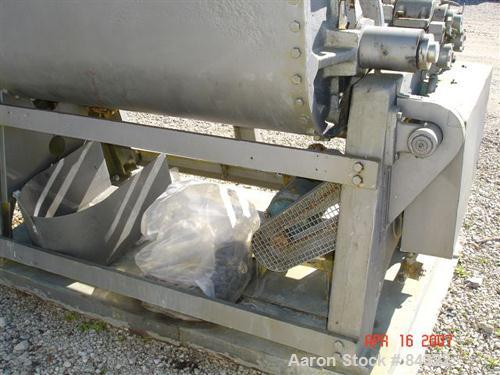 "USED: J H Day Double Arm Mixer, 150 gallon working capacity, 225 total, 316 stainless steel. Non-jacketed bowl 44"" left to r..."