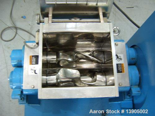 Used-LCI Batch Kneader, model KDHJ-10. 304 Stainless steel construction for all product contact parts. Two counter-rotating ...