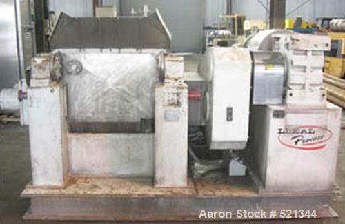 Used- Leal Process Double Arm Mixer, Model AM-400. Approximate 100 gallon total capacity, 66 gallon working capacity. 304 st...