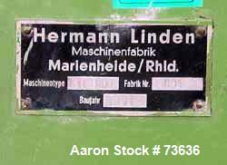 Used- Stainless Steel Hermann Linden Double Arm Mixer, Model KIIN200