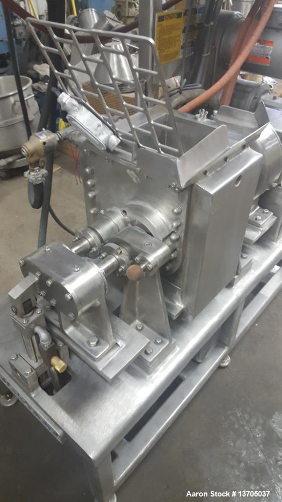 Used- 0.75 Gallon Littleford Day Mogul Sanitary, Jacketed Sigma Blade Mixer. Stainless steel, sanitary, heavy duty mogul mix...