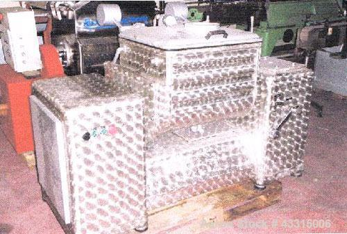 Used- Stainless Steel Manurhin PVZ 1000 Double Arm Mixer, capacity 40 gallons (150 liters)