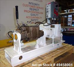 Used-Aaron Process Equipment Double Arm Sigma Blade Lab Mixer, Model LNG 0.25, 0.25 Gallon Capacity, 304 Stainless Steel. Ja...