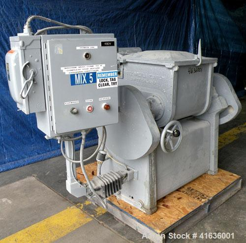 "Used- Fritz Meili Double Arm Mixer, 33 gallon working capacity, type LNS125, 316 stainless steel. Non-jacketed bowl 20-7/8"" ..."