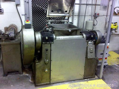 """Used-Meili Double Arm Sigma Mixer, 15 gallon capacity.  Stainless steel construction. Jacketed bowl measures 19"""" L-R x 19"""" F..."""