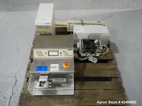 Used- Caleva mixer torque rheometer, model MTR-3