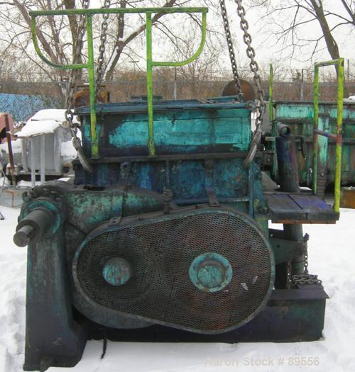 """USED: Double arm mixer, approximate 200 gallon working capacity, carbon steel. Jacketed bowl 52-3/4"""" left to right x 43-3/4""""..."""