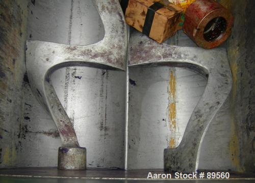 """USED: Double arm mixer, approximate 200 gallon working capacity, carbon steel. Jacketed bowl 49-1/2"""" left to right x 45"""" fro..."""