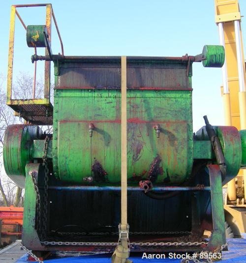 """USED: Double arm mixer, approximate 200 gallon working capacity, carbon steel. Jacketed bowl 49-1/4"""" left to right x 45-1/4""""..."""