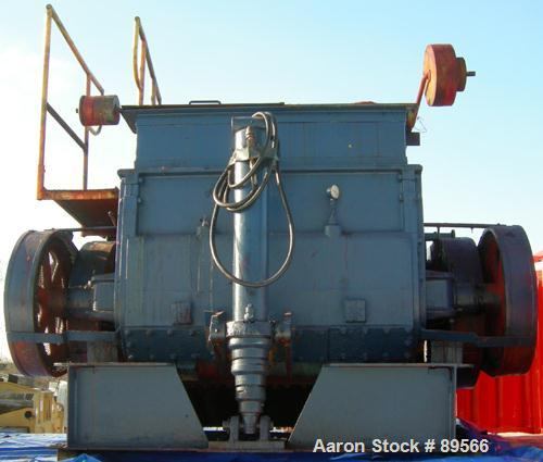 "USED: Double arm mixer, low boy design, approximate 200 gallon working capacity, carbon steel. Jacketed bowl 53"" left to rig..."