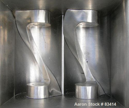 USED: Paul O Abbe lab size double arm mixer, .7 gallon working capacity, 1 total, 304 stainless steel. Internal #4 polish an...