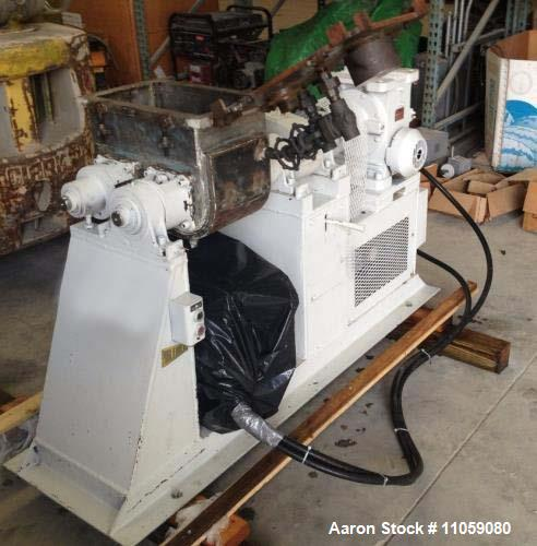 Used- Paul O Abbe Jacketed and Vacuum rated Sigma Blade / Double Arm Mixer. Approximately 6 gallon total and 2.5 gallon work...