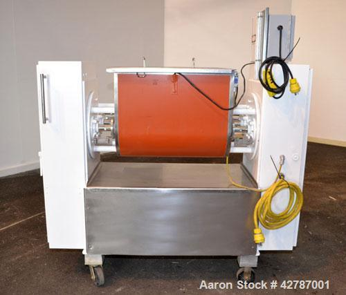 """Used- Peerless Double Arm Sigma Mixer, 30 Gallon, Model 30GAL, 304 Stainless Steel. Non-jacketed bowl 23"""" front to back x 26..."""