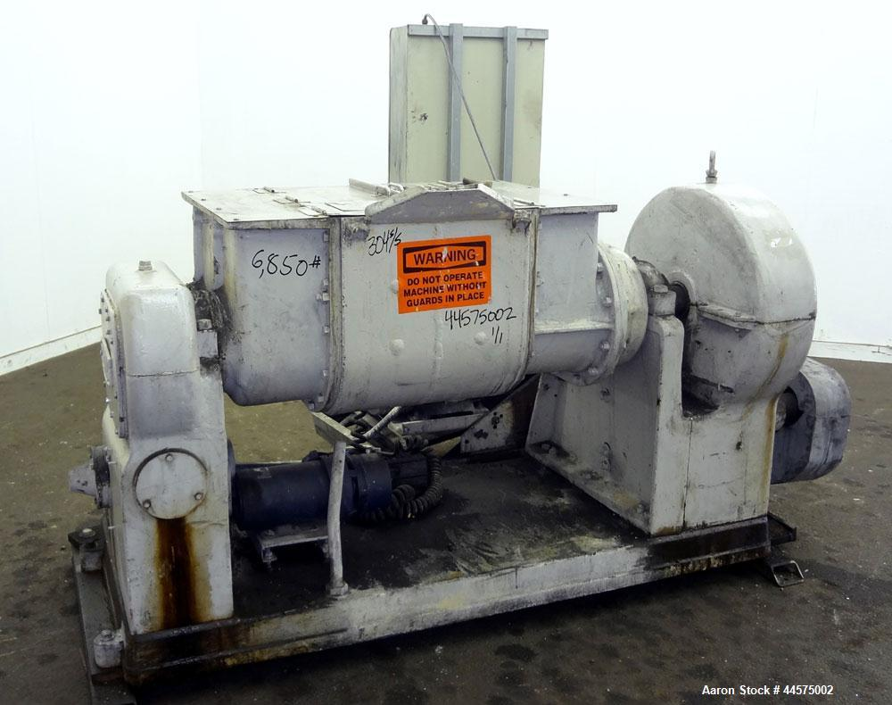 "Used- Readco Double Arm Mixer, 25 Gallon Working Capacity (38 Total), 304 Stainless Steel. Carbon steel jacketed bowl 20"" le..."