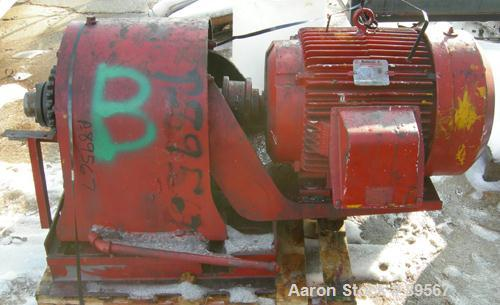 """Used- Readco double arm mixer, approximately 100 gallon working capacity, carbon steel. Jacketed bowl 33"""" left to right x 38..."""