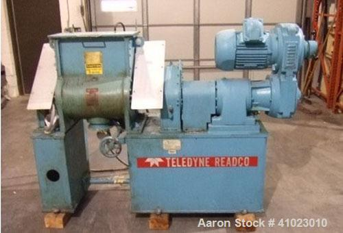 Used-Teledyne Readco Double Arm Sigma Mixer, Model 15/10.  Dual level bowl, 10 gallon working capacity, stainless steel, jac...