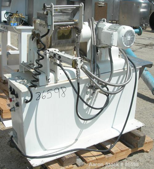 """USED- Teledyne Readco Double Arm Lab Mixer, 1.5 Gallon Capacity, 304 Stainless Steel. Jacketed bowl 9-1/16"""" left to right x ..."""