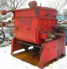 USED: Double arm mixer, approximate 200 gallon working capacity, carbon steel. Jacketed bowl 49-1/2