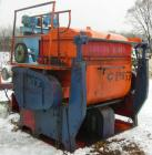 USED: Double arm mixer, approximate 200 gallon working capacity, carbon steel. Jacketed bowl 62