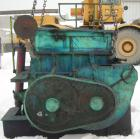 USED: Double arm mixer, approximate 200 gallon working capacity, carbon steel. Jacketed bowl 52-3/4