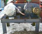 USED: Double arm mixer, low boy design, approximate 200 gallon working capacity, carbon steel. Jacketed bowl 53