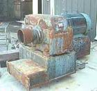 Used- Double Arm Mixer, Approximate 350 Gallon, Carbon Steel. Jacketed trough measures approximately 49 3/4